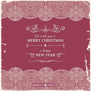 Grunge retro Christmas card