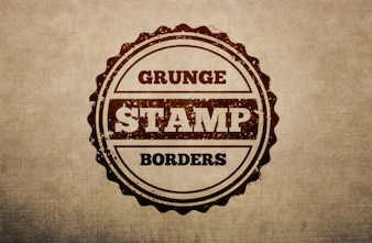 Grunge stamps with borders