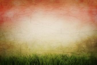 Grunge style abstract sunset landscape background