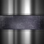 Grunge texture background with perforated metal and aluminium