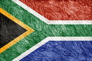 grunge threaded flag   south africa