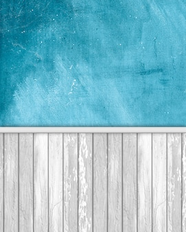 Grunge wall background with wooden panels