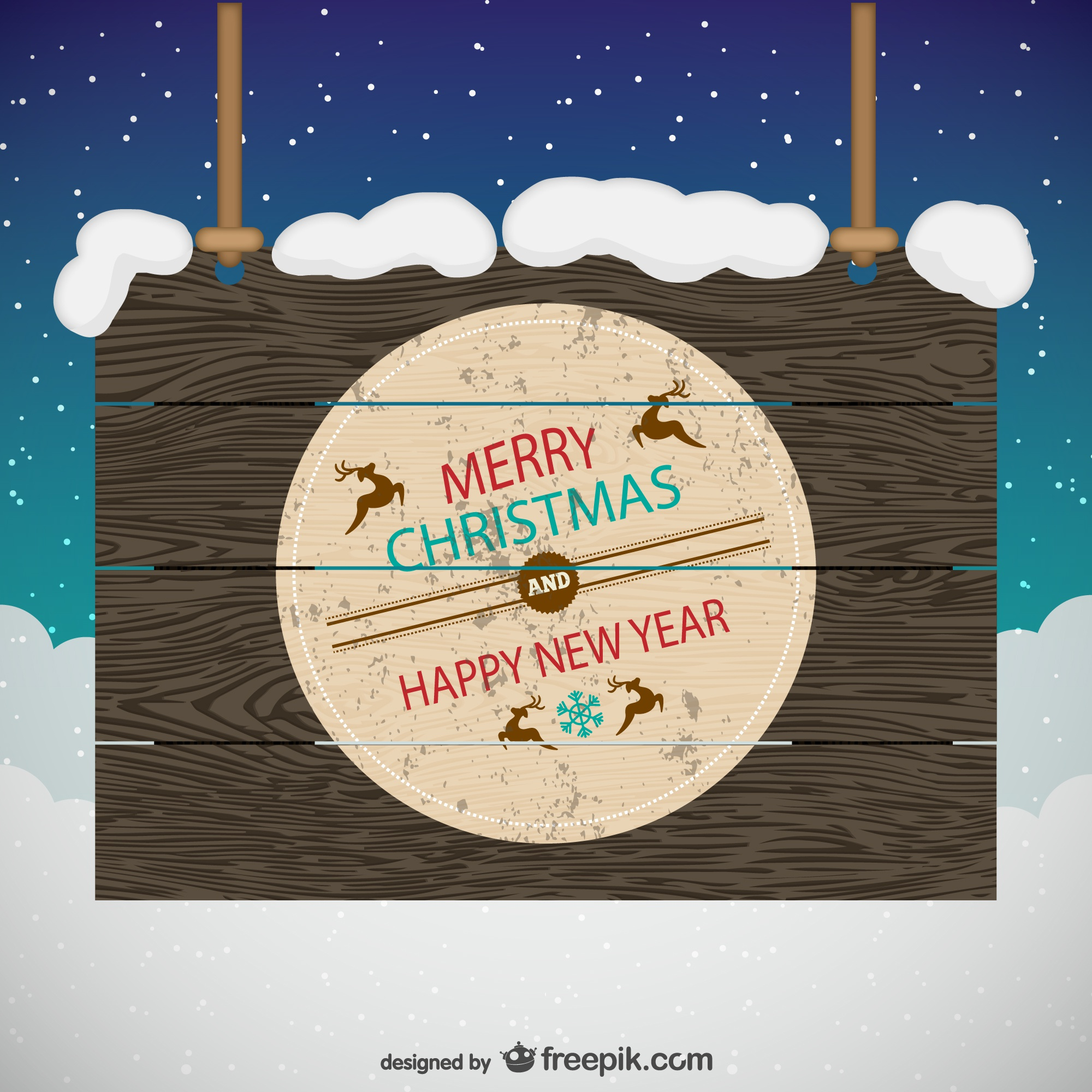 Grunge wooden Christmas sign