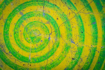 Grunge yellow and green  wall background .