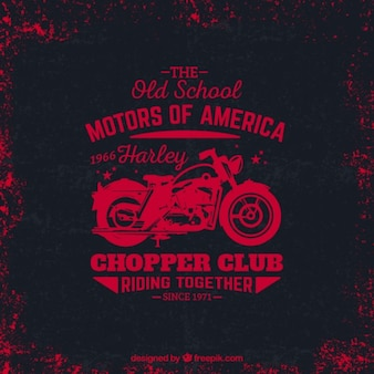 Grungy chopper club logo