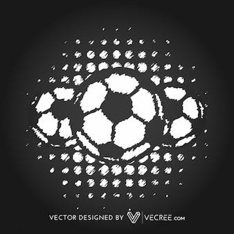 Grungy soccer balls design