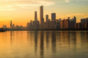 Guangzhou sunset skyline