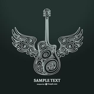 Guitar art vector illustration