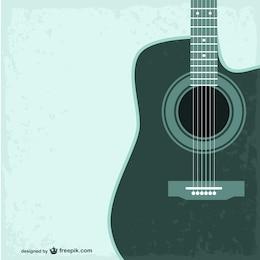 Guitar free vector template