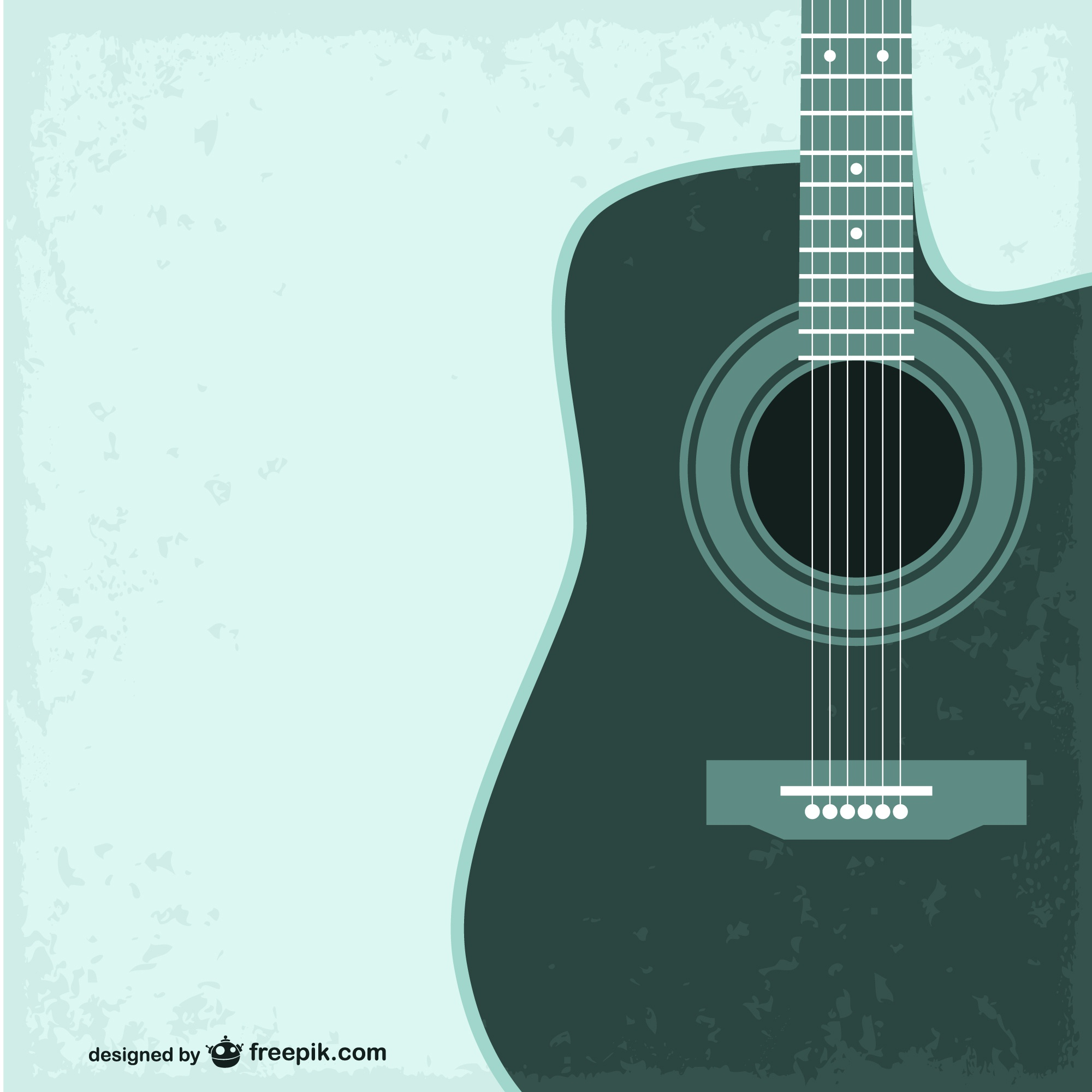 Guitar free vector template