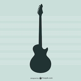 Guitar vector silhouette