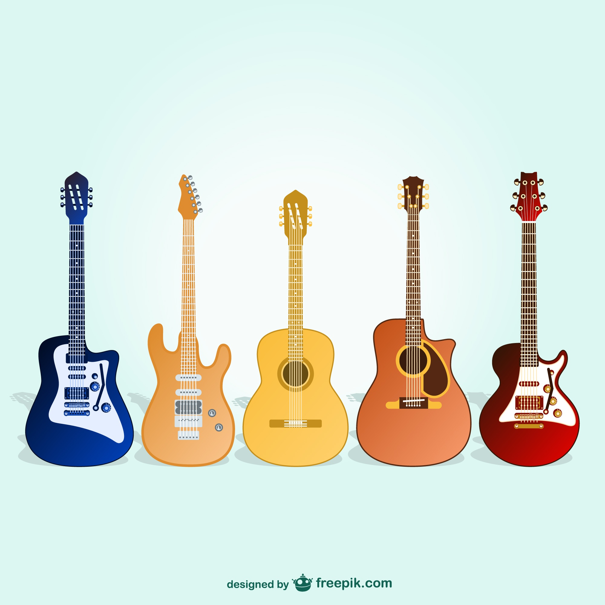 Guitars free vector pack