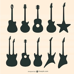 Guitars vector set