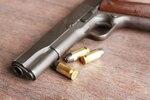 Gun and bullets, crime