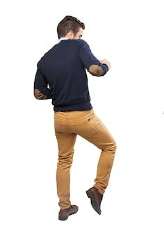 Guy dancing with rhythm