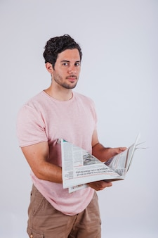 Guy with newspaper
