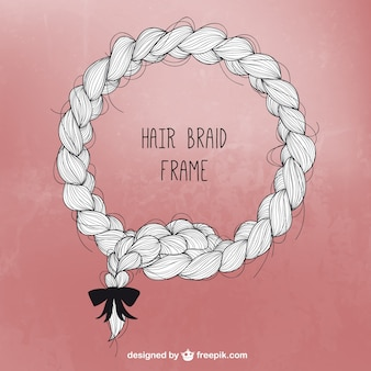 Hair braid frame