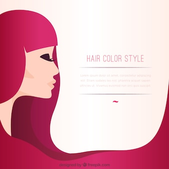 Hair color style template