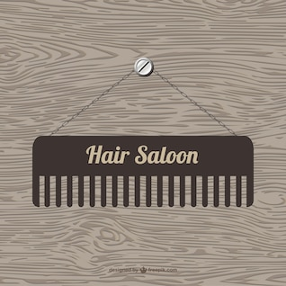 Hair saloon vector template