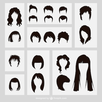 Hairstyles silhouettes
