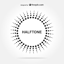 Halftone circle free background
