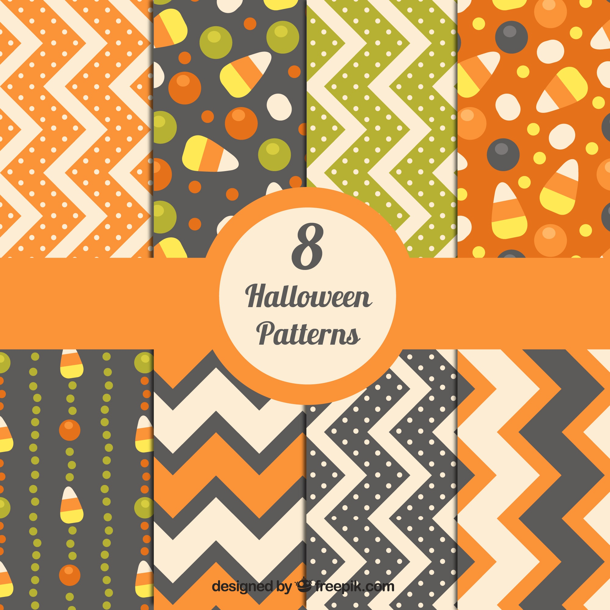 Halloween abstract patterns