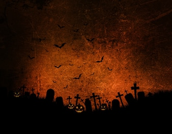 Halloween background with dark grunge effect