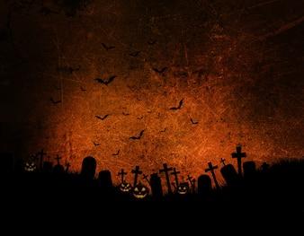 暗いグランジ効果のハロウィーンの背景