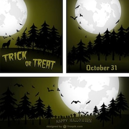 Halloween backgrounds pack