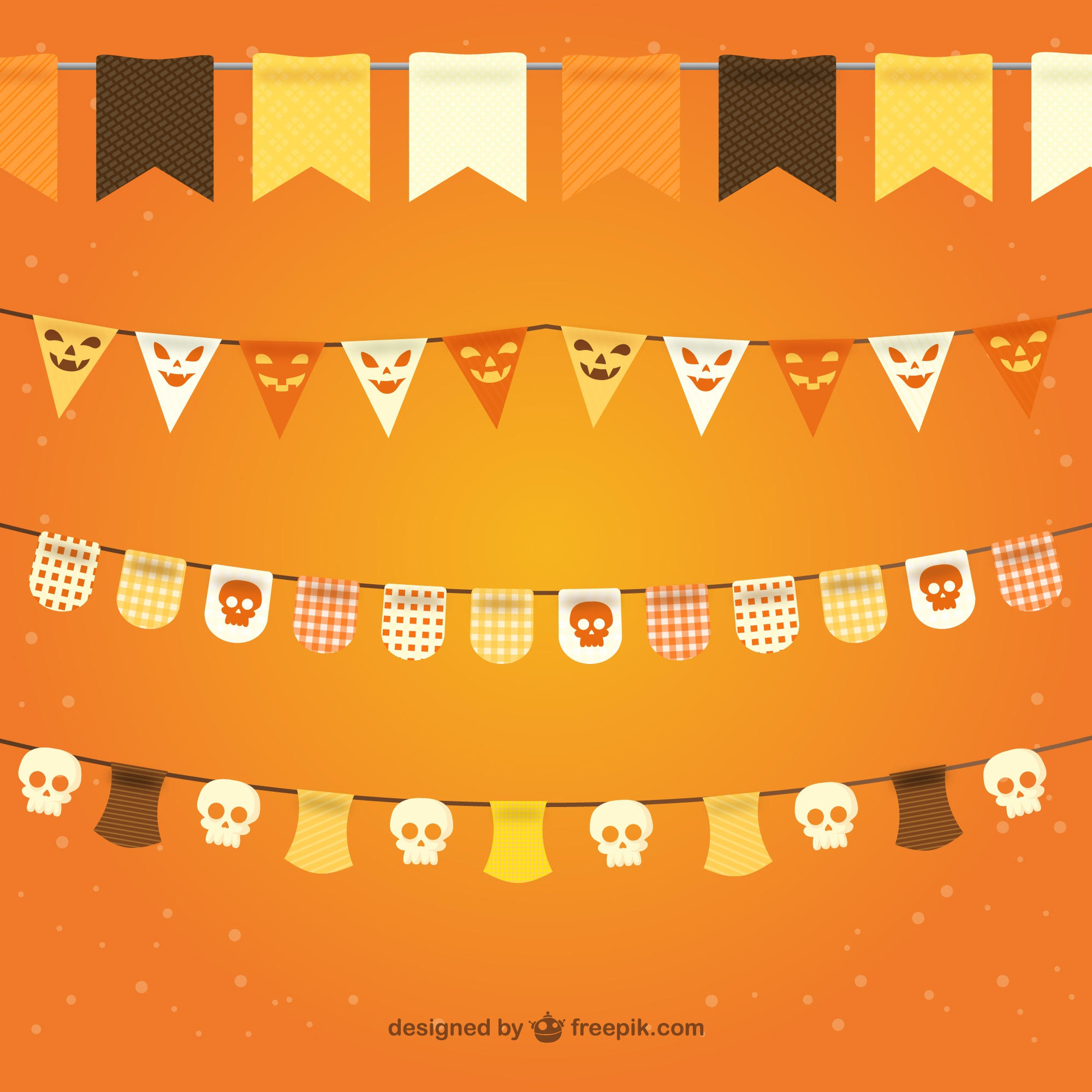 Halloween bunting pack