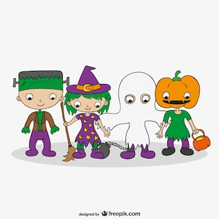 Halloween costumes cartoon