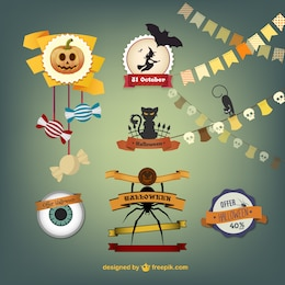 Halloween crafts vectors