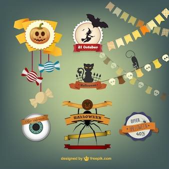 Halloween crafts vectors