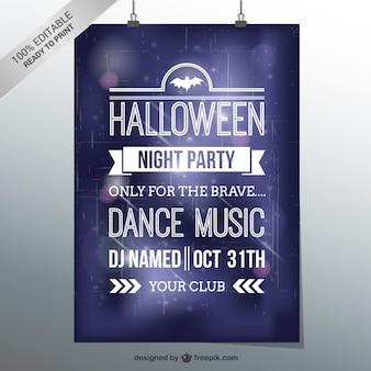 Halloween dance party flyer template