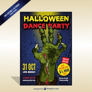 Halloween dance party flyer