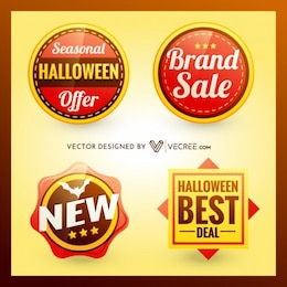 Halloween discount and sale badges