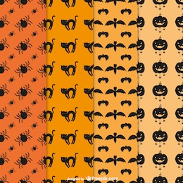 Halloween editable patterns pack