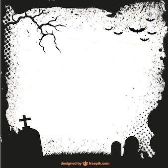Halloween frame silhouette vector template