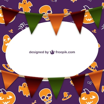Halloween frame with garlands