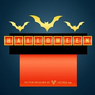 Halloween golden bats vector illustration
