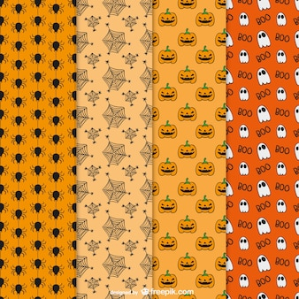Halloween hand drawn patterns