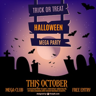 Halloween invitation vector template
