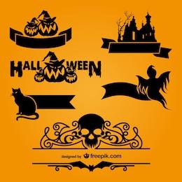 Halloween logo templates