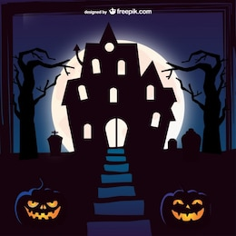 Halloween mansion background