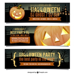 Halloween party banners pack