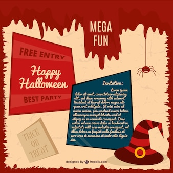 Halloween party card invitation