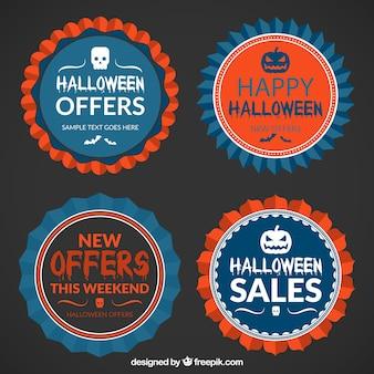 Halloween promotional badges