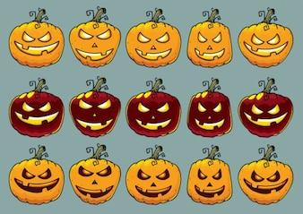 Halloween pumpkins in various shapes