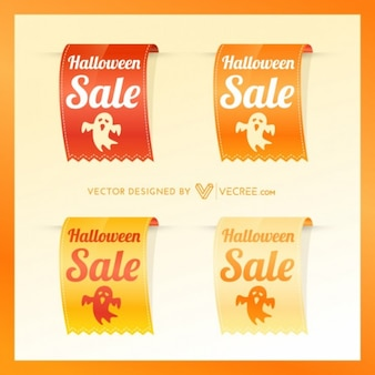 Halloween sale badges collection