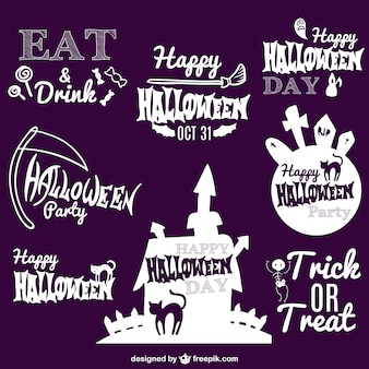 Halloween vector badges collection